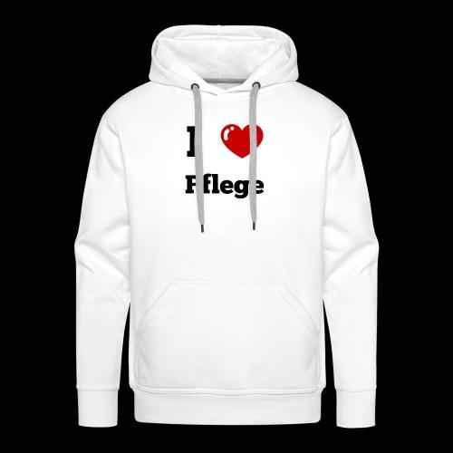 I LOVE PFLEGE - Männer Premium Hoodie
