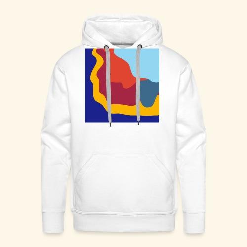 Illusion d'optique colorée - Sweat-shirt à capuche Premium pour hommes