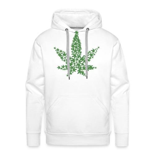 Cannabis - Felpa con cappuccio premium da uomo