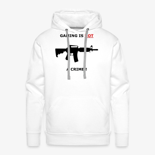 GAMING IS NOT A CRIME ! - Männer Premium Hoodie