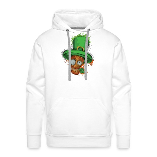 Leprechaun with shamrock - Men's Premium Hoodie