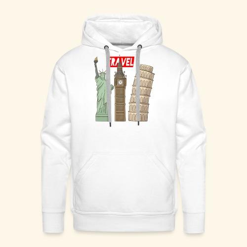 Travel New York, London, Pisa - Männer Premium Hoodie