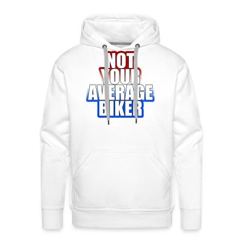 NotYourAverageBiker Hoodie BigWhite BACK logo - Mannen Premium hoodie