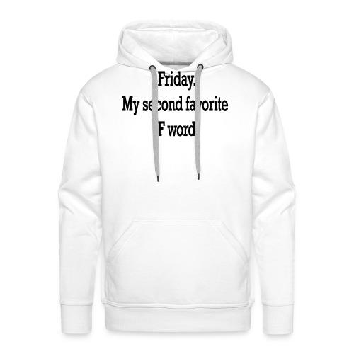 T-Shirt F word - Felpa con cappuccio premium da uomo