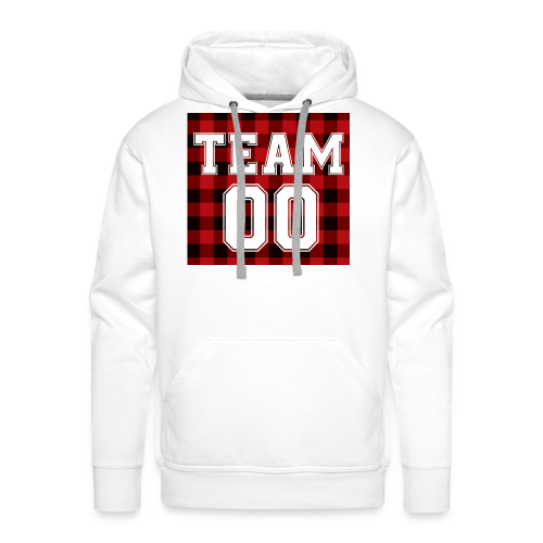 TEAM 00 T-shirt White - Mannen Premium hoodie