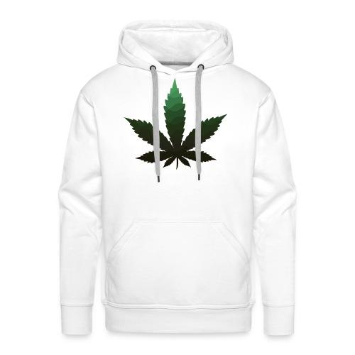 green marijuana leaf - Männer Premium Hoodie