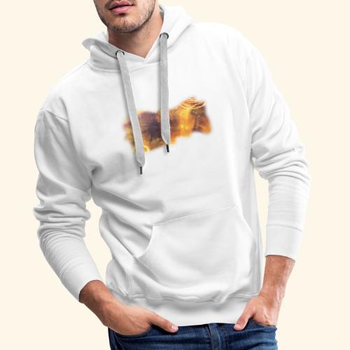 Boisé. FHuguenin-Virchaux. Scale 2ter copie - Sweat-shirt à capuche Premium pour hommes