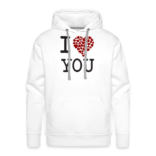 I Love You - Sudadera con capucha premium para hombre