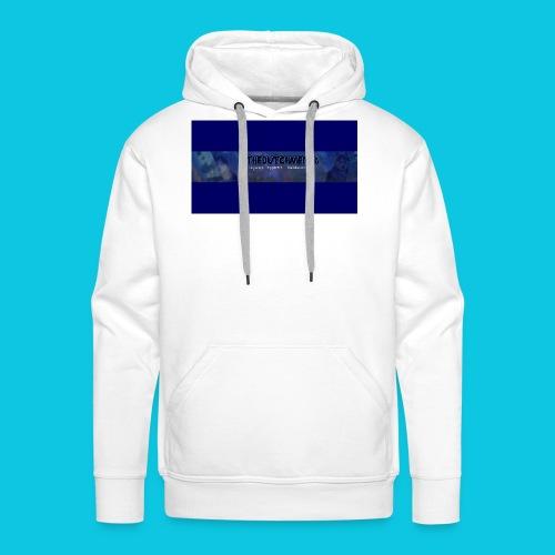 buismat bleu - Mannen Premium hoodie