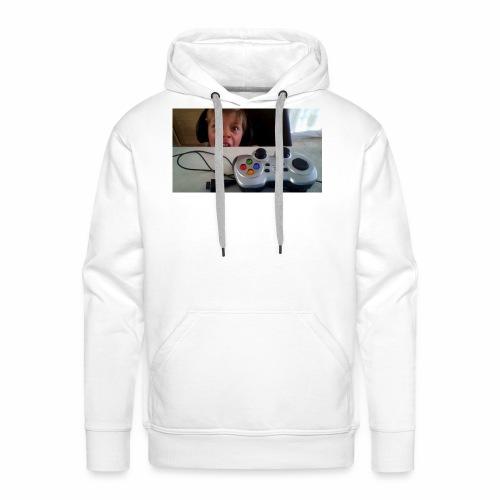 visage stupide de moi - Sweat-shirt à capuche Premium pour hommes