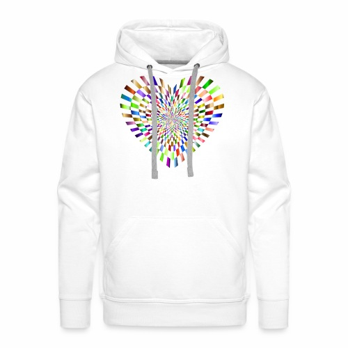 illusion heart colour - Men's Premium Hoodie