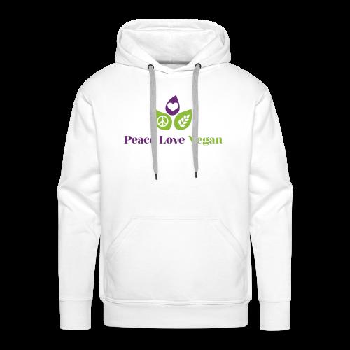 Peace Love Vegan - Men's Premium Hoodie