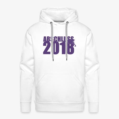 Abschluss 2018 purple - Männer Premium Hoodie