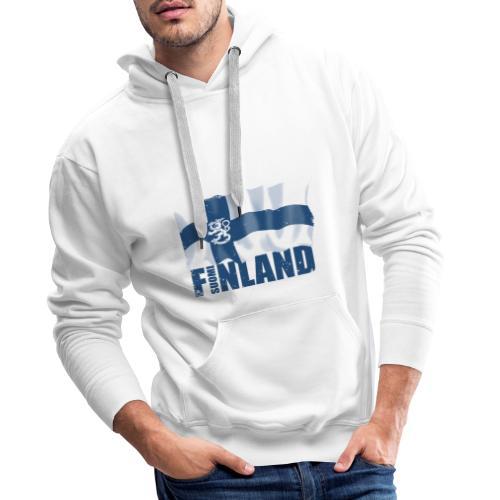 01-SUOMI LEIJONALIPPU - FINLAND LION FLAG - Miesten premium-huppari