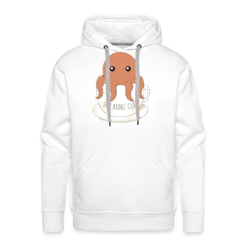 Relaxing cup Octopus Orange - Sweat-shirt à capuche Premium pour hommes