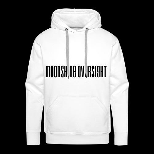 Moonshine Oversight logo - Sweat-shirt à capuche Premium pour hommes