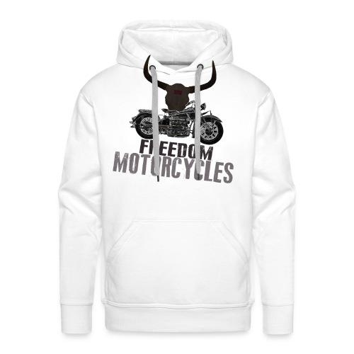 FREEDOM MOTORCYCLES - Sudadera con capucha premium para hombre