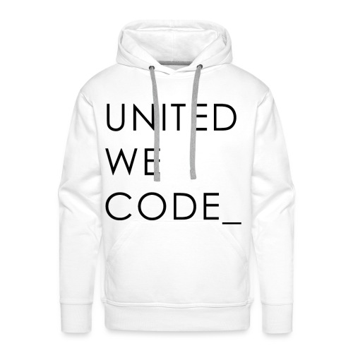 United We Code - Sweat-shirt à capuche Premium pour hommes