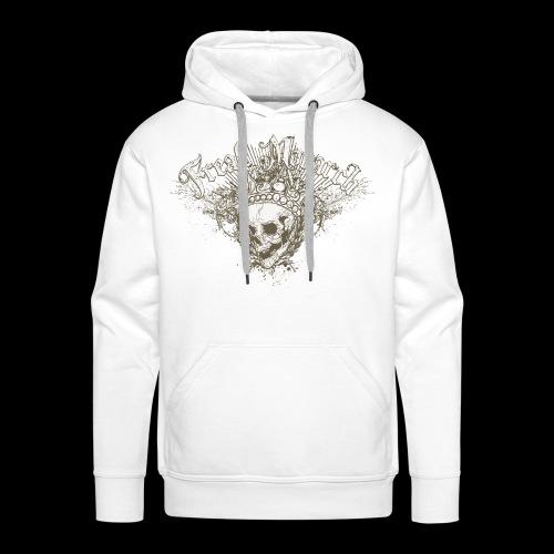 Freak Monarch Totenkopf Gothic T-Shirt - Männer Premium Hoodie