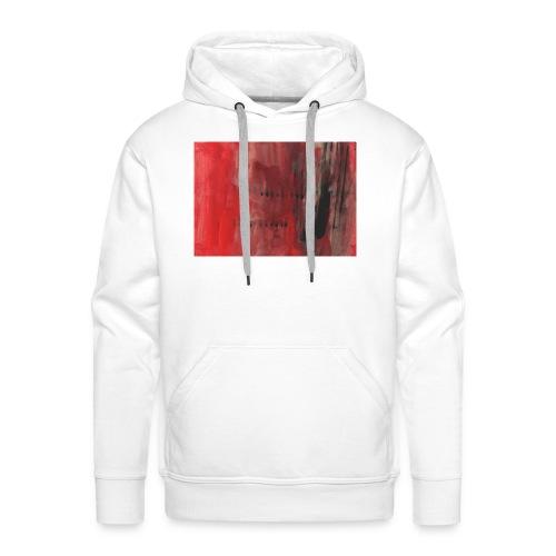 abstrait rouge et noir - Sweat-shirt à capuche Premium pour hommes