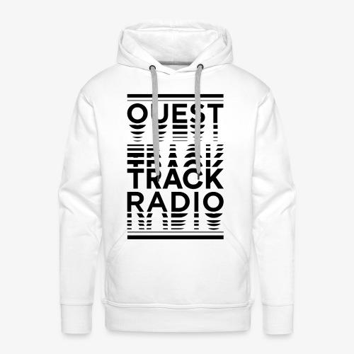 Logo Vertical Grand Noir - Sweat-shirt à capuche Premium pour hommes
