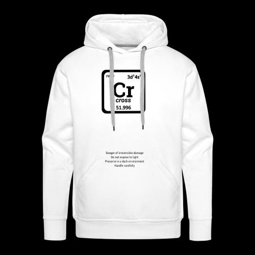 Cross clothing chemical - Felpa con cappuccio premium da uomo
