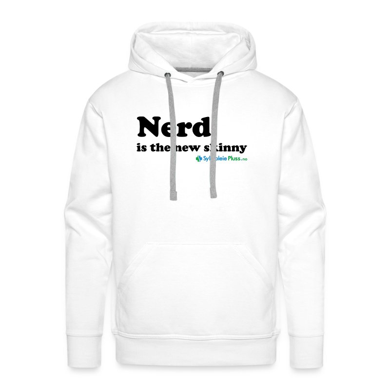 Nerd is the new skinny! - Premium hettegenser for menn