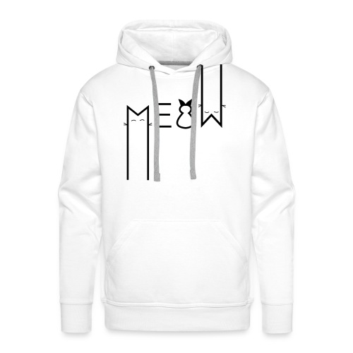MEOW Miau Katze Süß Liebe - Männer Premium Hoodie