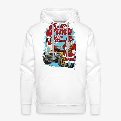 PIMP SANTA- Partie Weihnachtsmann Pin-Up Shirt - Männer Premium Hoodie