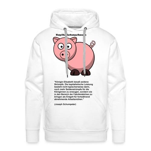 Kapitalismus Schwein weiß - Männer Premium Hoodie