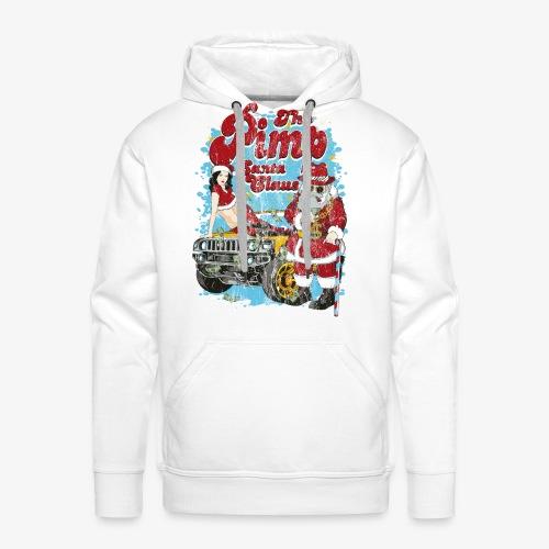THE PIMP SANTA- Partie Weihnachtsmann Pin-Up Shirt - Männer Premium Hoodie