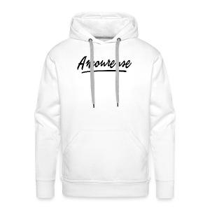 Amoureuse (Black letters) - Sweat-shirt à capuche Premium pour hommes