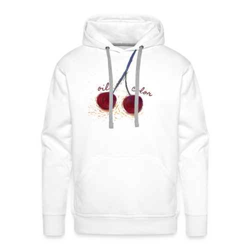oilcolor - 'distorted cherry' - Men's Premium Hoodie