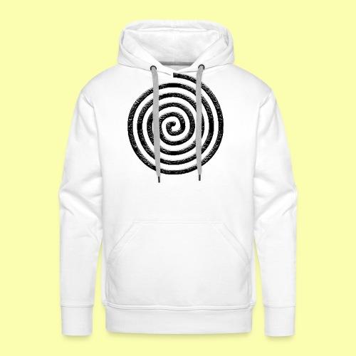 spirale - Felpa con cappuccio premium da uomo