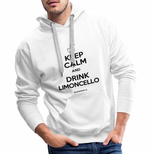 Restez calme et buvez du Limoncello - Sweat-shirt à capuche Premium pour hommes