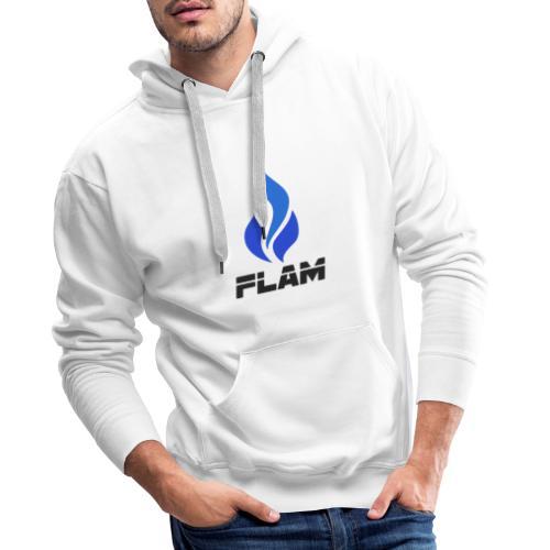 FLAM Bleu - Sweat-shirt à capuche Premium pour hommes