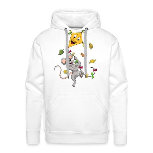 Maus mit Drachen im Herbst - Männer Premium Hoodie
