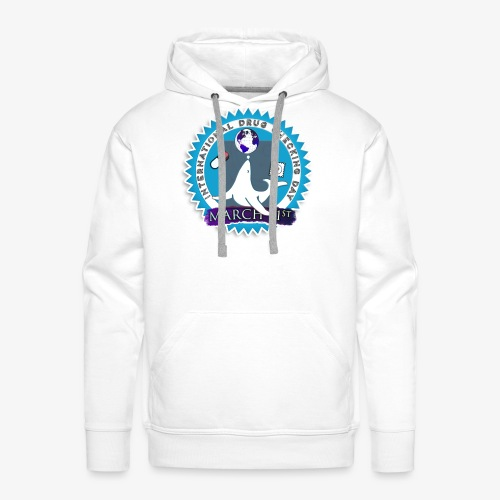 Drug Checking Day Seal - Mannen Premium hoodie