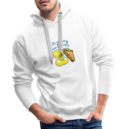 collection jamais sans ma tourta - Sweat-shirt à capuche Premium pour hommes