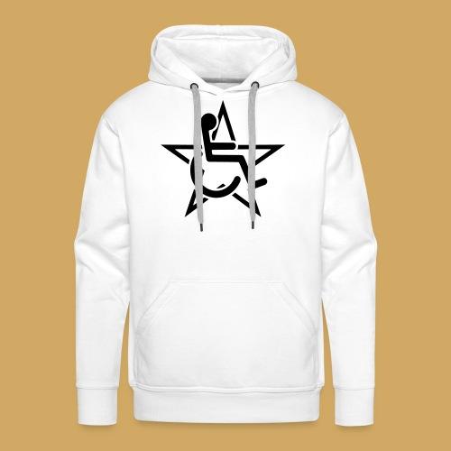 Wheelchairstar2 - Mannen Premium hoodie