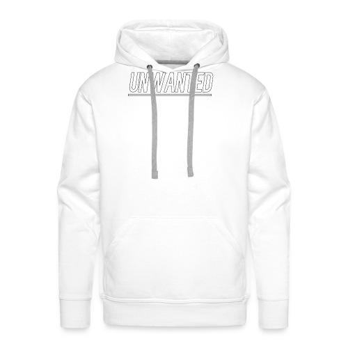 UNWANTED Logo Tee White - Men's Premium Hoodie