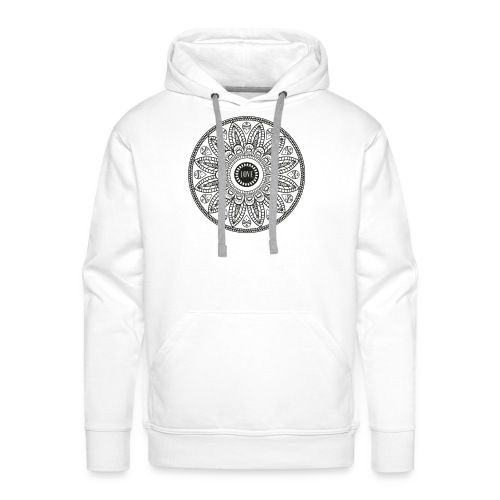 Mandala mit Schriftzug Love - Männer Premium Hoodie