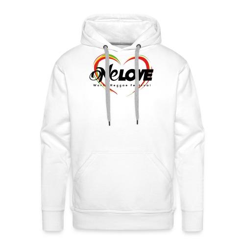 LOGO ONE LOVE 2016 - Felpa con cappuccio premium da uomo