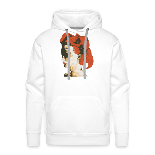 Illustratie smeltende vrouw - Mannen Premium hoodie