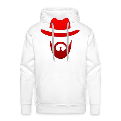 logo izicron rouge - Sweat-shirt à capuche Premium pour hommes