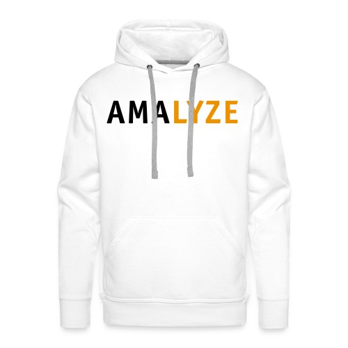 AMALYZE LOGO BLACK - Männer Premium Hoodie