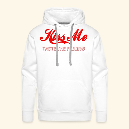 Kiss me - Felpa con cappuccio premium da uomo