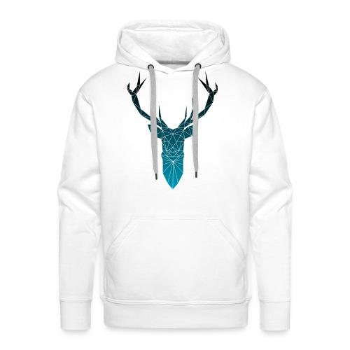 Hirsch blau im Triangel-Design - Männer Premium Hoodie