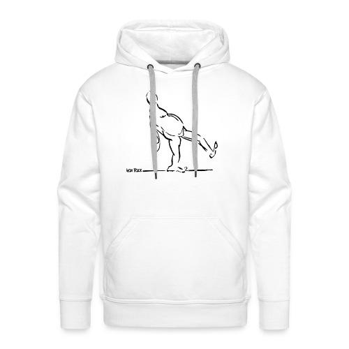 Lean Back Doodle - Men's Premium Hoodie
