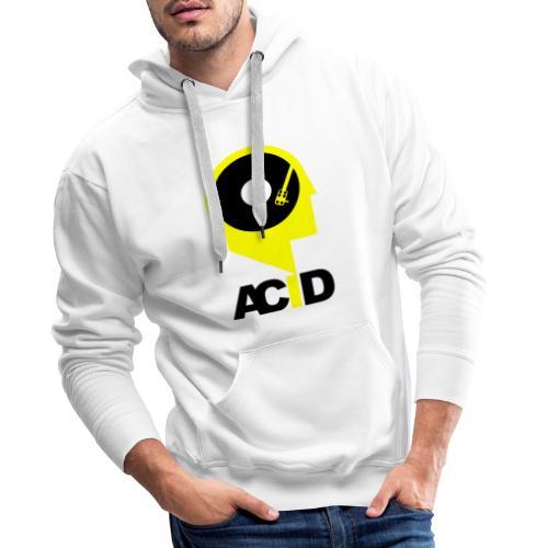 Acid In My Head White - Bluza męska Premium z kapturem